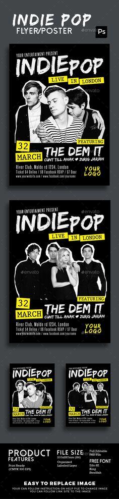 Indie Pop Flyer Poster