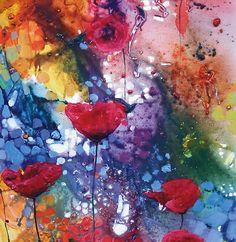 Poppies Ladies V