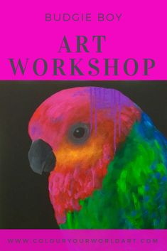 Budgie Boy Mini Art workshop, learn to paint this awesome artwork in a 3 hour mini workshop in Somerville, VIC. Budgies, Boy Art, Learn To Paint, Step By Step Instructions, Have Fun, Workshop, Learning, Mini, Awesome