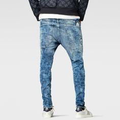 G-Star RAW | Men | Jeans | Raw For The Oceans - type C 3d Super Slim Jeans , Light Aged Destroy