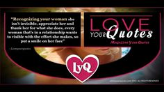 Recognizing your woman | loveyourquotes.com