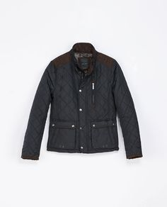 Image 7 of QUILTED JACKET WITH SHOULDER APPLIQUÉ from Zara