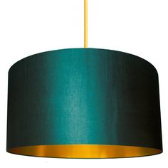 I've just found Petrol Lampshade With Copper Or Gold Lining. Handmade drum lampshades using a beautiful petrol blue fabric with a soft sheen. Gold Lamp Shades, Blue Lamp Shade, Drum Shade, Green Light Shades, Ceiling Light Shades, Green Lamp, Copper Lampshade, Fabric Lampshade, Bedroom Lampshade