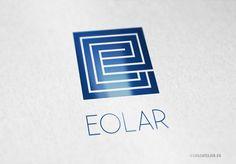 Logo Quadrat Buchstabe E ||| EXKLUSIVES Logo Quadrat Buchstabe E