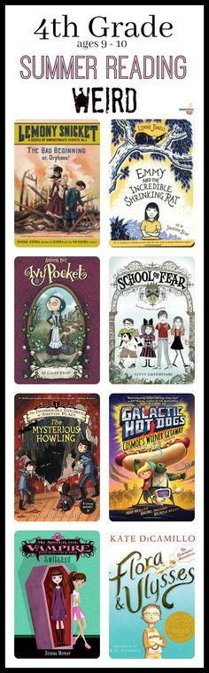 4th grade summer reading lists -- weird and kooky books