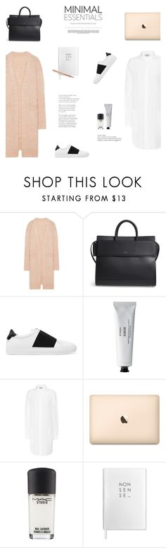 """MINIMAL ESSENTIALS"" by canvas-moods ❤ liked on Polyvore featuring Acne Studios, Givenchy, Byredo, MAC Cosmetics, Sloane Stationery, Tom Dixon and Whiteley"