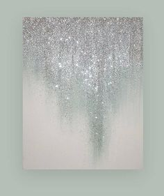 Glamorous silver and white glitter artwork. This would be awesome as an accent wall. Glamorous silver and white glitter artwork. This would be awesome as an accent wall. Art Painting, Wall Art, Acrylic Artists, Abstract Art, Glitter Canvas, Abstract, Glitter Art, Diy Art, Canvas Painting