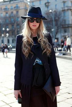 Street Style: Hats Off  / Photo by Anthea Simms