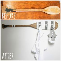 Ready oar not... / Awesome as a towel hook in the lake house bathroom or for hanging storage in the kitchen.