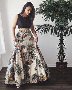 Crepe+Silk+Floral+Print+Multicolour+Semi+Stitched+Lehenga+-+Jk4 at Rs 1599