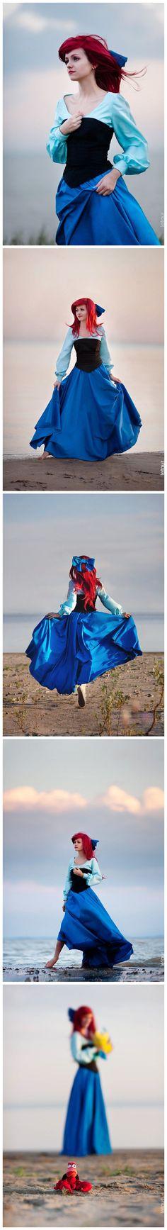 Ariels town dress, Disneys The Little Mermaid #camiseta #cosplayer…