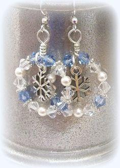 Earrings Perfect for the #Frozen Fan! #Handmade For Sale at www.zibbet.com/dancingrainbows