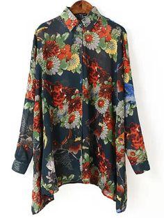 Floral Print Batwing Blouse 24.83