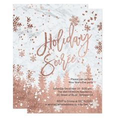 Holiday Soiree Script White Marble New Years Eve Invitation Newyearseve Newyearseveparty Newyears Newyearsparty Ad