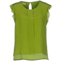 Altea Blouse (2,365 MXN) ❤ liked on Polyvore featuring tops, blouses, green, green top, altea, short sleeve tops, green blouse and short sleeve blouse