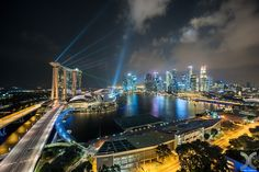 Photograph Marina Bay Sands Laser Show by Daniel Cheong on 500px