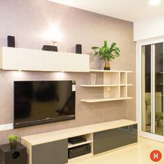 The living room, which is a part of our simple, straight lined range. Tile Showroom, Tv Unit Design, Sweet Home, The Unit, Interior Design, Living Room, Entertainment Units, Simple, Wall Units