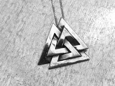 Valknut Necklace, Three Interlocked Triangles, Sterling Silver Valknut, Odin Norse God, King of Asgard Necklace, March of the Valkyries by urbanindustries on Etsy