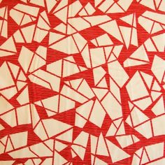Kokka Cocca Origami in Red Modern Crafts, Patchwork Fabric, Draped Fabric, Japanese Fabric, Craft Shop, Dressmaking, Origami, Cool Designs, Quilts
