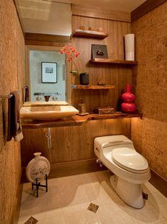 Zen Spa Powder Room Remodel: Media, PA - contemporary - spaces - philadelphia - HomeTech Renovations, Inc.