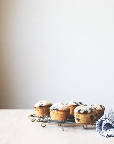 Chantelle Grady - blueberry  vanilla bean friands