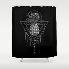 40% OFF TAPESTRIES | 30% OFF FRAMED PRINTS + ART PRINTS | 20% OFF EVERYTHING ELSE - USE CODE: SPRINGTOIT - SALE ENDS TONIGHT AT MIDNIGHT PT Pineapple Geometry Shower Curtain https://society6.com/product/pineapple-geometry1218730_shower-curtain?curator=shashirahandmaker @society6 #sales #offers #promo #discount #pineapple #mixmediaart #blackandwhite