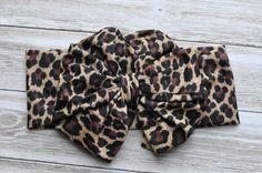 Leopard Print Messy Bow Headwrap