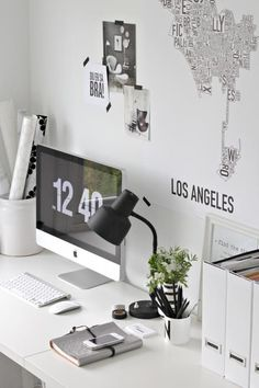 clean + white + type + workspace