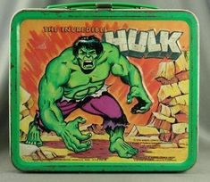 Incredible Hulk #vintage #lunchbox