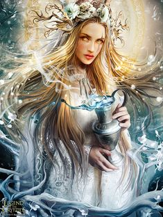 Frigg, Frigga, Norse Goddess, Wife of Odin, Goddess of Matron, Goddess of Motherhood.