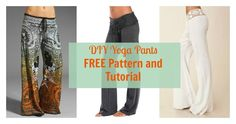 Sew a Yoga Pants for Mom using this FREE pattern. See pictures and style ideas that wil inspire you to sew this comfy pants. My favorite is the white one!