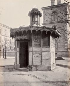 vintage everyday: Old Photos of Public Urinals in Paris in the 19th Century City market.