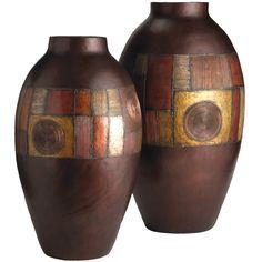 Leo Zodiac: Pier 1 Metallic Mosaic Vases