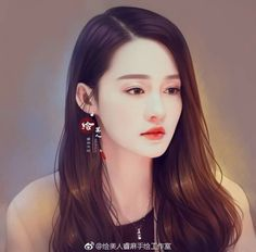 Korean Art, Asian Art, Japanese Drawings, Kpop Drawings, Painting Of Girl, Chinese Art, Female Art, Cute Wallpapers, Art Girl