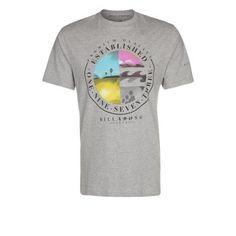 €26, Graues bedrucktes T-Shirt mit Rundhalsausschnitt von Billabong. Online-Shop: Zalando. Klicken Sie hier für mehr Informationen: https://lookastic.com/men/shop_items/260166/redirect
