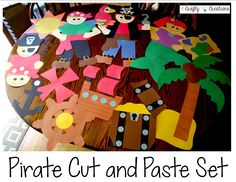 Pirate Cut and Paste Set that includes patterns and directions to make all these great creations!