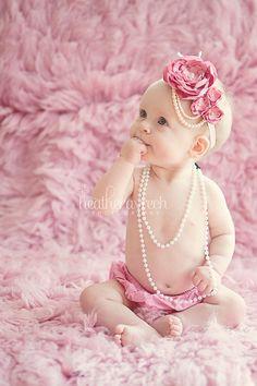 Rose Pink 1920s Style Headband/ Baby Headband/ by MaisysBoutique, $17.80