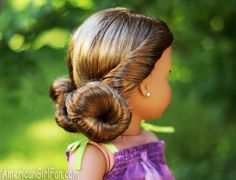 Low Mini Buns Doll Hairstyle! (click through for tutorial)