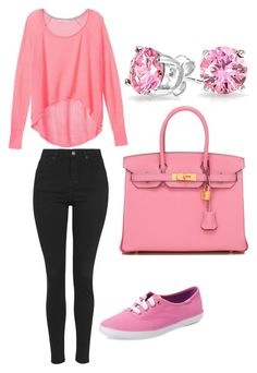 """""""256"""" by ado-duda ❤ liked on Polyvore featuring Topshop, Victoria's Secret, Keds, Hermès and Bling Jewelry"""