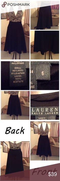 "Ralph Lauren Skirt Skirt is made of 96% Wool and 4% Elastane. Size 6. Color Black. Zipper up back. Lined. Length ""31. Laying flat ""15. This item is NOT new, It is used and in Good condition. Authentic and from a Smoke And Pet free home. All Offers through the offer button ONLY.  Ask any questions BEFORE purchase. Please use the Offer button, I WILL NOT negotiate in the comment section. Thank You😃 Ralph Lauren Skirts"
