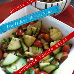 Quinoa lentils and veggies and cucumber tomato salad these recipes are so tummy yummy! #strongsexyfityou.com