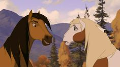 Screencap Gallery for Spirit: Stallion of the Cimarron Bluray, Dreamworks). The mustang stallion Spirit grows up to proudly succeed his father as leader of the Cimarron herd in the unspoiled Wild West. Spirit The Horse, Spirit And Rain, Disney Horses, Artist Problems, Dreamworks Animation, Rain Animation, Barnyard Animals, Childhood Movies, Cartoon Tv Shows