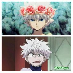 Haha, Killua Zoldyck… I don't know who thought of this but it's funny XD       ~Hunter X Hunter