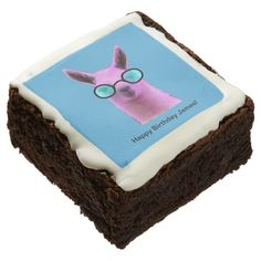Chocolate Brownies created by LyndseyArt. Fudgy Brownies, Chocolate Brownies, Chocolate Flavors, Animal Birthday Cakes, Llama Birthday, Artificial Food Coloring, Confectioners Glaze, Llama Gifts, Custom Chocolate