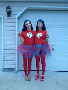 my sister and i went as thing one and thing two and wore my homeade tutus - Thing 1 Thing 2 Halloween Costume