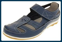Coolers Damen Leder Ballett Blau EU 37 - Mary jane halbschuhe (*Partner-Link)