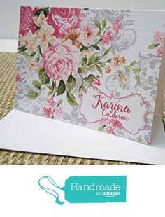 Personalized Flowery corner Stationery Set, Personalized Note cards, Personalized Thank you cards, Set of 12 folded note cards and envelopes. from Mis Creaciones by Patricia Chalas http://www.amazon.com/dp/B01DOY80MS/ref=hnd_sw_r_pi_dp_ApM.wb1YDMEJV #handmadeatamazon