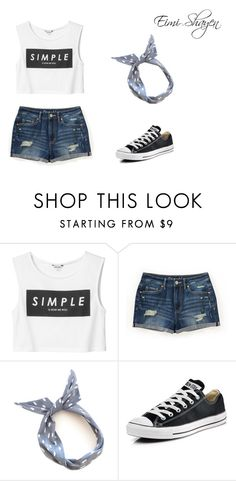 """Simple"" by eimidulce ❤ liked on Polyvore featuring moda, Monki, Aéropostale, Converse, women's clothing, women's fashion, women, female, woman y misses"
