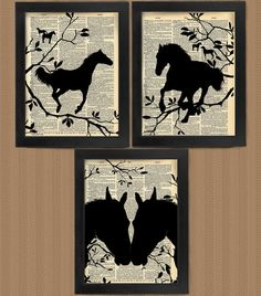 Love At First Sight Horses Horse art print set by HelloUwall, $16.99