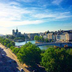 A view from a rooftop of Institut du Monde Arabe #paris #amazingview #travel www.yourparis.f